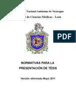 Normativa Presentacion de Tesis