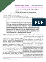 Trivedi Effect - Characterization of Antimicrobial Susceptibility Profile of Biofield Treated Multidrug-resistant Klebsiella oxytoca