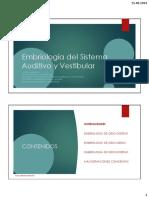 01 - Embriología Del Sistema Auditivo y Vestibular
