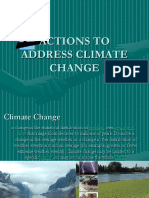 Actions to Address Climate Change911