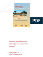 Managment of Aquifer Recharge and Subsurface Storage