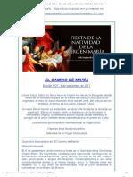 El Camino de Maria . Fiesta de La Natividad de Maria Santisima