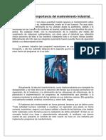 1.1concepto e Importancia Del Mantenimiento Industrial