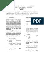 Informe Lab9 Mov. Rotacion y Traslacion