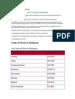 Free Trade Zone Procedures