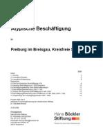 Atypische Beschäftigung in Freiburg, Hans Böckler Stiftung