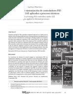Optimización de sintonización de controladores PID bajo el criterio IAE aplicados a procesos térmicos