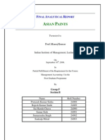 Asian Paints Financial Statement Analysis
