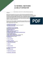 41 Macam Model Metode PembelajaranEfektif