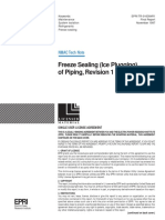 Ice Plugging of Piping