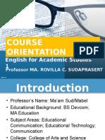 ENG021 Course Orientation