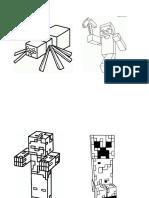 Minecraft para colorear