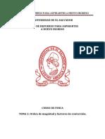 Física Tema 2 Orden de Magnitud y Factores de Conversión Versión PDF