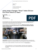 Dow Jones Changes _Hoax_ Index Divisor for First Time in 2 Years