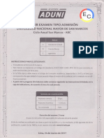 _ec_ Primer Examen Tipo Admisión Unmsm - Anual San Marcos - ABC - 2017