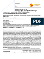 Trivedi Effect - Isotopic Abundance Ratio Analysis of 1,2,3-Trimethoxybenzene (TMB) After Biofield Energy Treatment (The Trivedi Effect®) Using Gas Chromatography-Mass Spectrometry