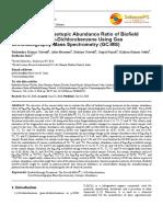 Trivedi Effect - Determination of Isotopic Abundance Ratio of Biofield Energy Treated 1,4-Dichlorobenzene Using Gas Chromatography-Mass Spectrometry (GC-MS)