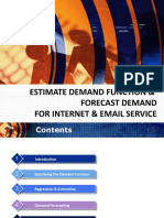 Estimate Demand Function & Forecast Demand