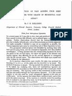 Kellgren 1939 Distribution of Pain Somatic Charts