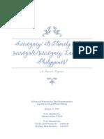 Surrogacy Research Proposal