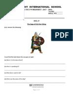 ENGLISH III Div - Practice Worksheet - PDF