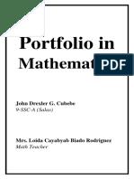 Portfolio in Math Choy