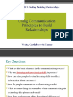Using Communication Principles to Build Relationships