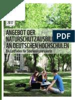 WWF 2017 Information Angebot Der Naturschutzausbildung an Deutschen Hochschulen Ein Leitfaden Fuer Studieninteressierte