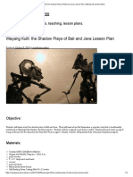 Wayang Kulit_ the Shadow Plays of Bali and Java Lesson Plan _ Making Visual Narratives