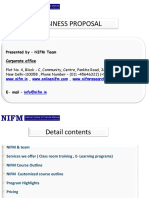 NIFM Training Proposal for School & College
