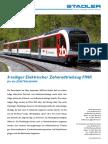 388.42 49 45 - STADLER (2009), ZENTRALBAHN 3-Teiliger Elektrischer Zahnradtriebzug FINK