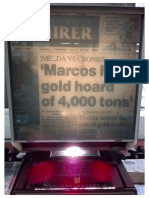 Marcos Had Gold Hoard of 4,000 Tons