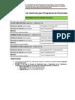 Calendario Academico Matricula 17-18