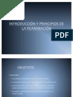 INTRODUCCIÓN Y PRINCIPIOS DE LA REANIMACIÓN