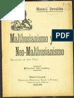 Devaldes-Malthusianismo