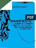 Manifiesto sobre el cambio climático y el futuro de la seguridad alimentaria