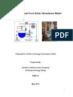 Recover Heat From Boiler Blowdown Water