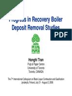 7.1 - Tran - Progress in RB Deposit Removal Studies
