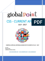 Monthly CSS Current Affairs Global Point July 2017