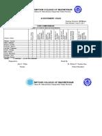 Achievement Chart