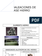 Superaleaciones de Base Hierro