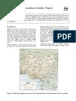 Groundwater Quality Information Nigeria