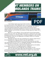East Midland Trains members letter