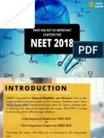 What Are Not So Important Chapters for the NEET 2018