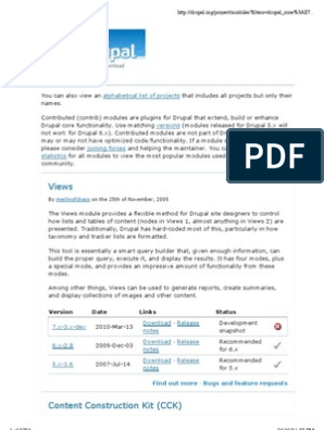 19685398 Drupal Modules | Drupal | Web Search Engine