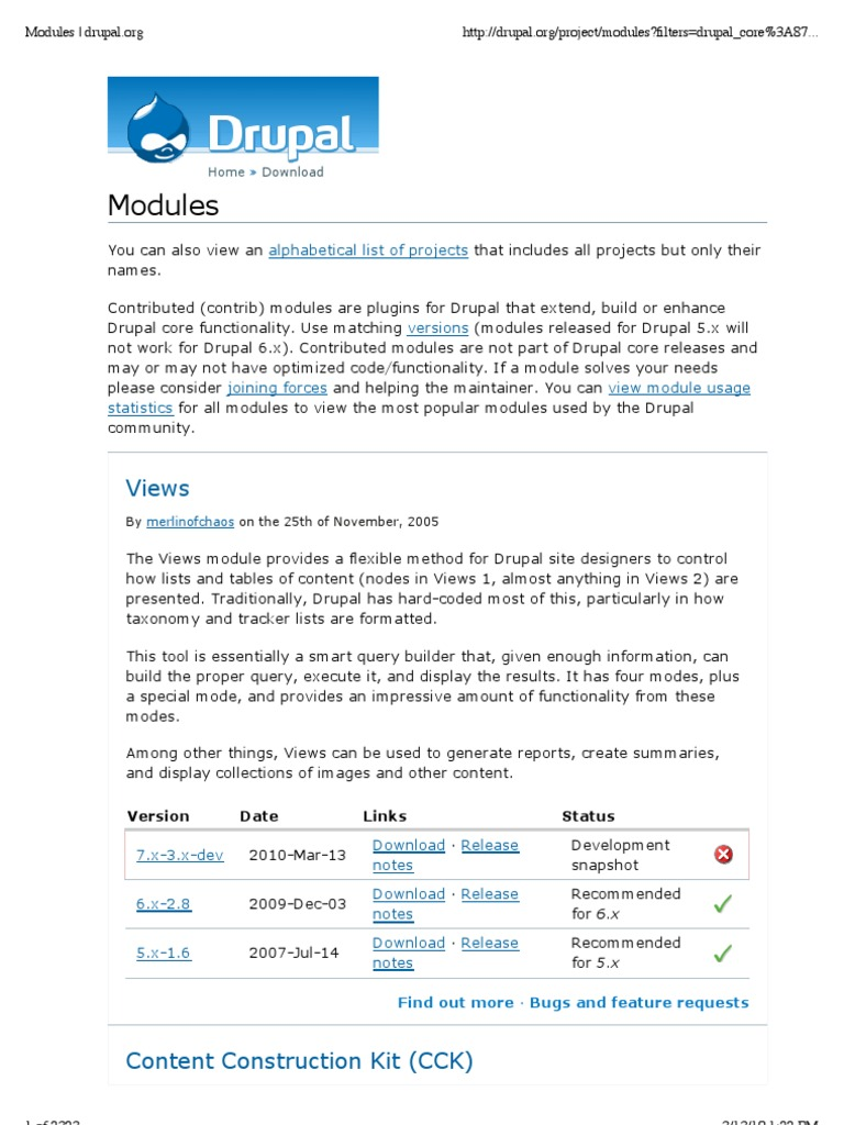 19685398 Drupal Modules | Drupal | Web Search Engine