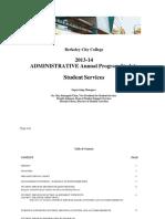 Administrative Program Review 2013 2014
