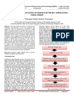 Study of Pedestrian Level of Service by Micro- Simulation using VISSIM