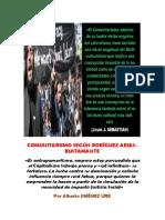 El Comunitarismo Según Rodríguez Arias-bustamante