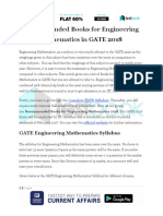 Recommended Books for Engineering Mathematics in GATE 2018